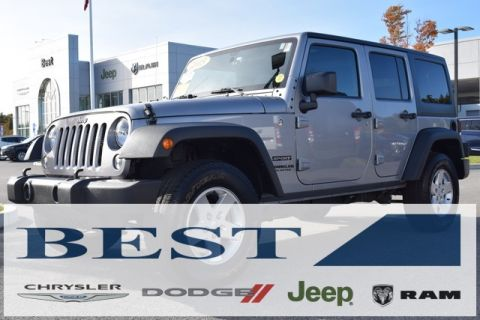 PRE-OWNED 2015 JEEP WRANGLER UNLIMITED SPORT 4WD