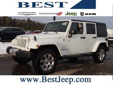 CERTIFIED PRE-OWNED 2014 JEEP WRANGLER UNLIMITED SAHARA 4WD