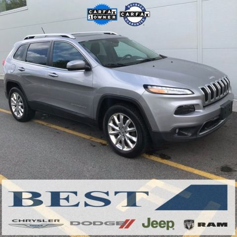 CERTIFIED PRE-OWNED 2015 JEEP CHEROKEE LIMITED 4WD