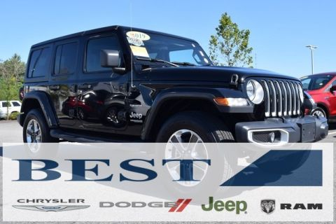 CERTIFIED PRE-OWNED 2019 JEEP WRANGLER UNLIMITED SAHARA 4WD