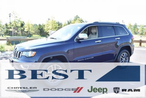 CERTIFIED PRE-OWNED 2017 JEEP GRAND CHEROKEE LIMITED WITH NAVIGATION & 4WD